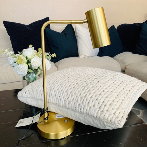 project 62 DEAN brass table lamp
